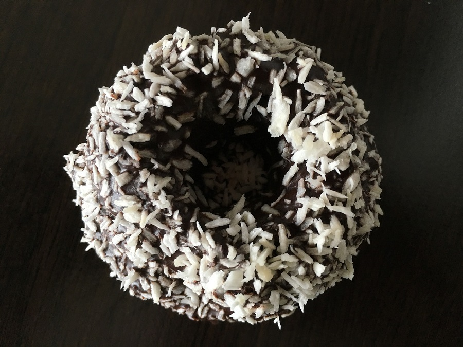 The Laminut: A classic Australian dish, the Lamington revisted as a donut.